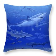 Oligocene Sea Throw Pillow