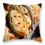 Olive Bread Throw Pillow