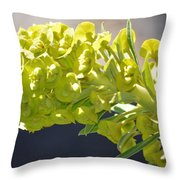 Olive Fluorescence Throw Pillow