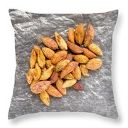 Olive Kernels Throw Pillow