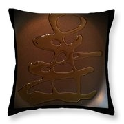 Olive Oil Painting Ampersand Throw Pillow