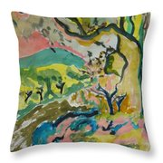 Olive Orchards Throw Pillow