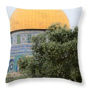 Olive Tree Dome Throw Pillow