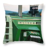 Oliver 2255 Tractor Throw Pillow