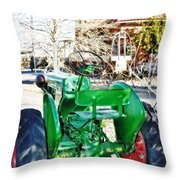 Oliver 60 Tractor In Dell Throw Pillow