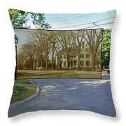 Oliver C. Brownell House On The Commons In Little Compton Rhode Island Throw Pillow