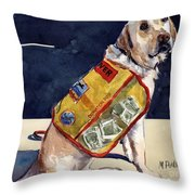 Oliver Rocks The Vest Throw Pillow