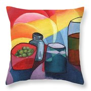 Olives Salt N Beer Throw Pillow by William Killen