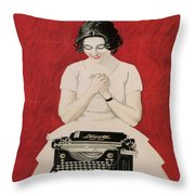 Olivetti Throw Pillow by Georgia Fowler