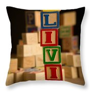 Olivia - Alphabet Blocks Throw Pillow