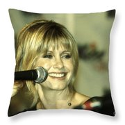 Olivia Newton John Throw Pillow