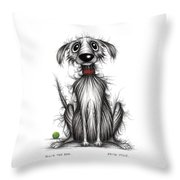 Ollie The Dog Throw Pillow