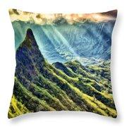 Olomana And The Koolau Range Throw Pillow