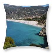 Oludeniz Beach Throw Pillow