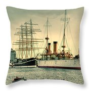 Olympia And Moshulu Throw Pillow