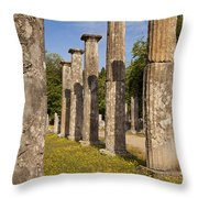 Olympia Ruins Throw Pillow