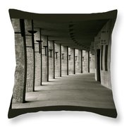 Olympiastadion Berlin Corridor Throw Pillow