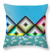 Olympic Boat Throw Pillow