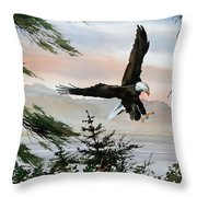 Olympic Coast Eagle Throw Pillow