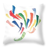 Olympic Fire Throw Pillow