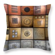 Olympic Metals Throw Pillow