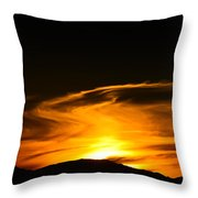 Olympic Mountain Sunset Photography Throw Pillow
