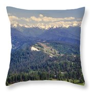 Olympic National Park Landscape Throw Pillow
