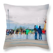 Olympic Park - Reopening Throw Pillow