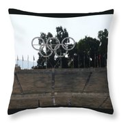 Olympic Rings Throw Pillow