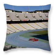 Olympic Stadium Barcelona Throw Pillow