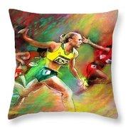 Olympics 100 Metres Hurdles Sally Pearson Throw Pillow