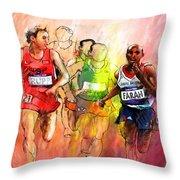 Olympics 10000m Run 01 Throw Pillow