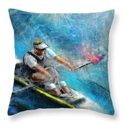 Olympics Rowing 01 Throw Pillow