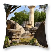 Olympus Ruins Throw Pillow by Brian Jannsen