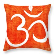 Om Spice Throw Pillow by Linda Woods
