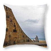 Omaha Beach Memorial Throw Pillow