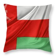 Oman Flag Throw Pillow