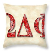 Omega Delta Phi - Parchment Throw Pillow
