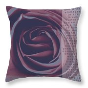 Omega Duo Tone Design Throw Pillow by Teri Schuster