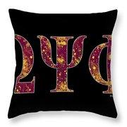 Omega Psi Phi - Black Throw Pillow