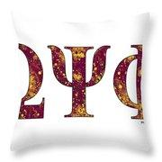 Omega Psi Phi - White Throw Pillow