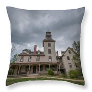 Ominous Clouds At Batsto Village Throw Pillow