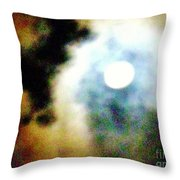 Ominous Moon Throw Pillow