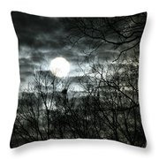 Ominous Sun Throw Pillow
