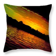 Ominous Sunset Throw Pillow