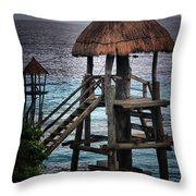 On 2 -ready-hut Hut Throw Pillow
