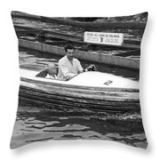 On A Boat Ride At Playland Throw Pillow