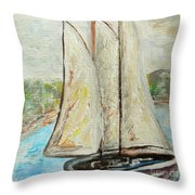 On A Cloudy Day - Impressionist Art Throw Pillow
