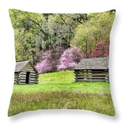 On A Hill At Valley Forge Throw Pillow
