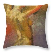 On A Hot Summer Day Throw Pillow